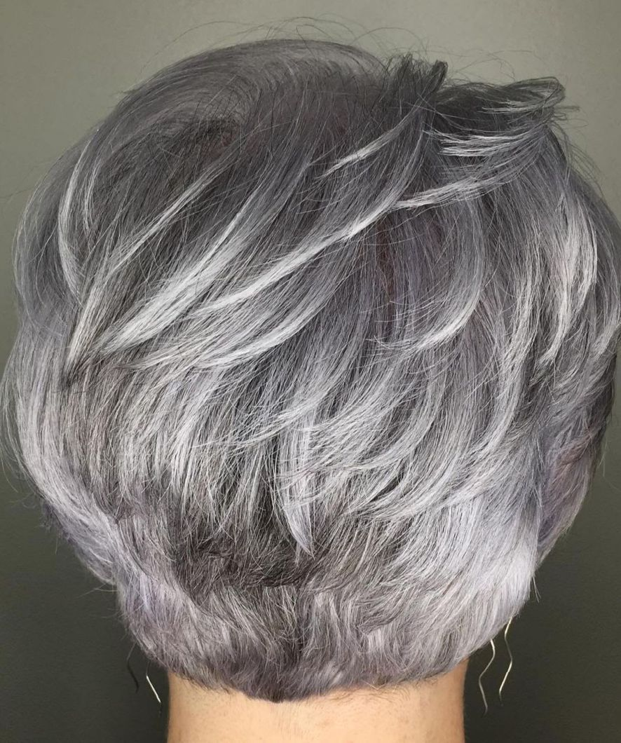 60 gorgeous gray hair styles   feather gray in 2019   silver