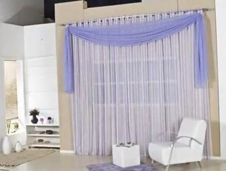 Modelos de cortina para sala http www for Cortinas para departamento