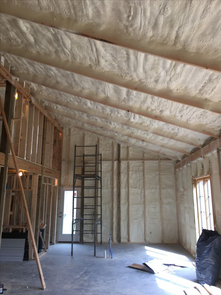 How one man built his pole barn house spray foam metal roof spray foam metal roof and sprays solutioingenieria Image collections