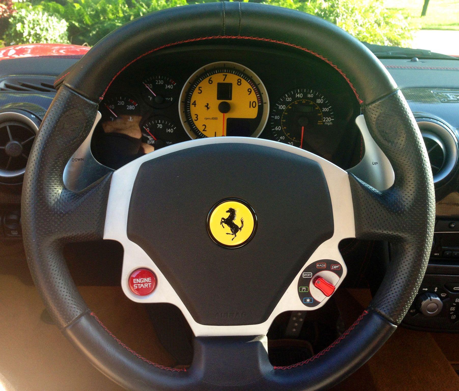 2006 Ferrari F430 Interior: 2007 Ferrari F430 F1 Steering