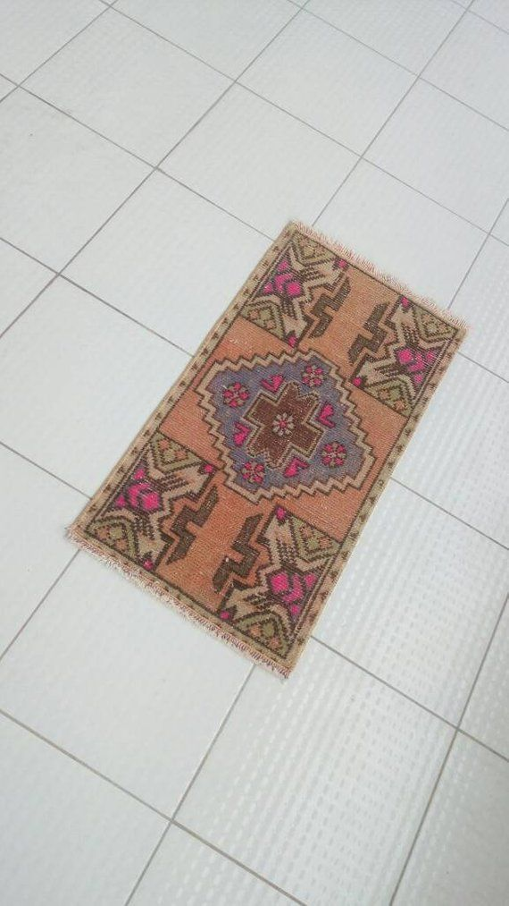 Vintage Turkish Decorative Small Rug Floor Door Mat 2 6 X1 4