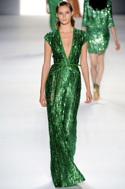 db5aae49568 Elie Staab s Resort 2012 ready-to-wear collection. Emerald green dress   pinpantone  coloroftheyear