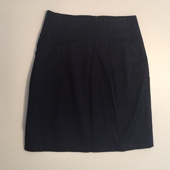 Banana Republic Petite navy pleated dress skirt Navy pleated skirt w/ pockets. Fully lined. Great for work or interviews. Size Petite 0. Banana Republic Skirts Midi