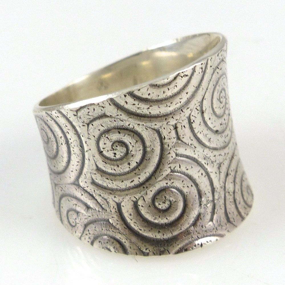 Stamped saddle ring jelwery pinterest saddles ring and swirl