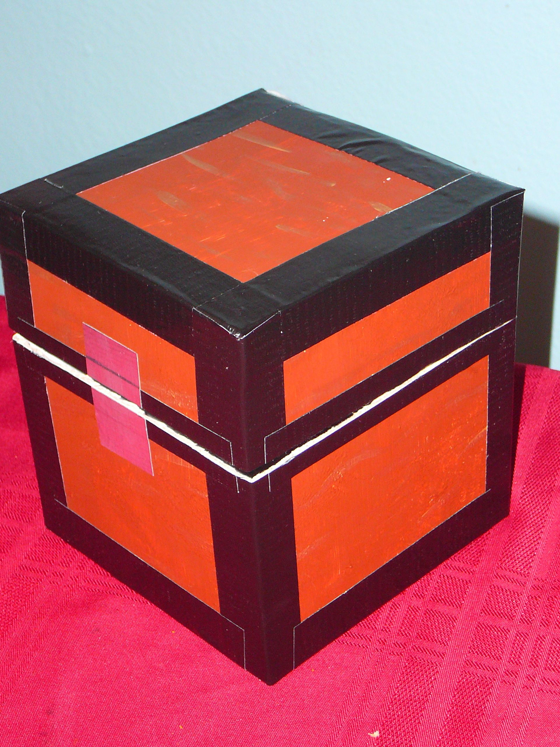 Minecraft Treasure Box   Painted Box With Duck Tape
