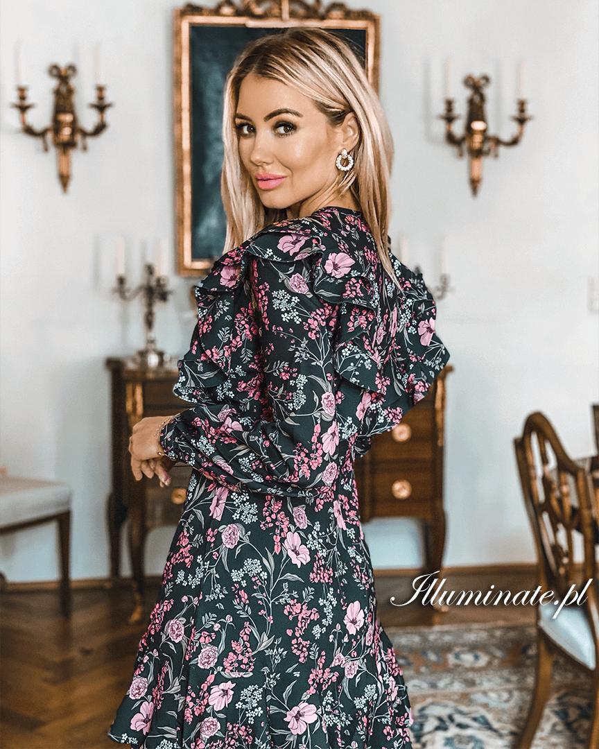 Elif Kwiaty Sukienka Na Kazda Okazje Long Sleeve Dress Casual Dress Fashion