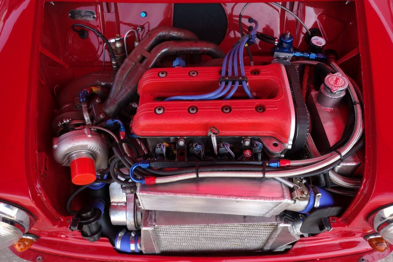 970cc, Turbocharged , BMW K series head , 280 Bhp.