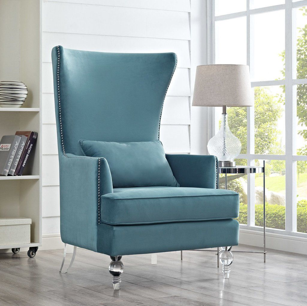 Bristol velvet tall back chair available in silver croc