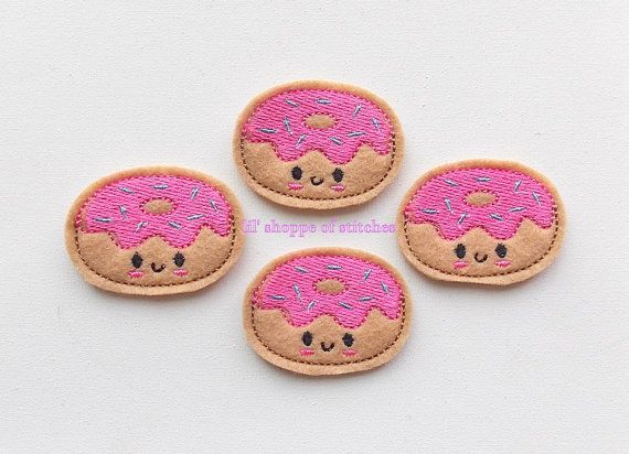 Hey, I found this really awesome Etsy listing at https://www.etsy.com/listing/188989251/donuts-with-sprinkles-felt-applique