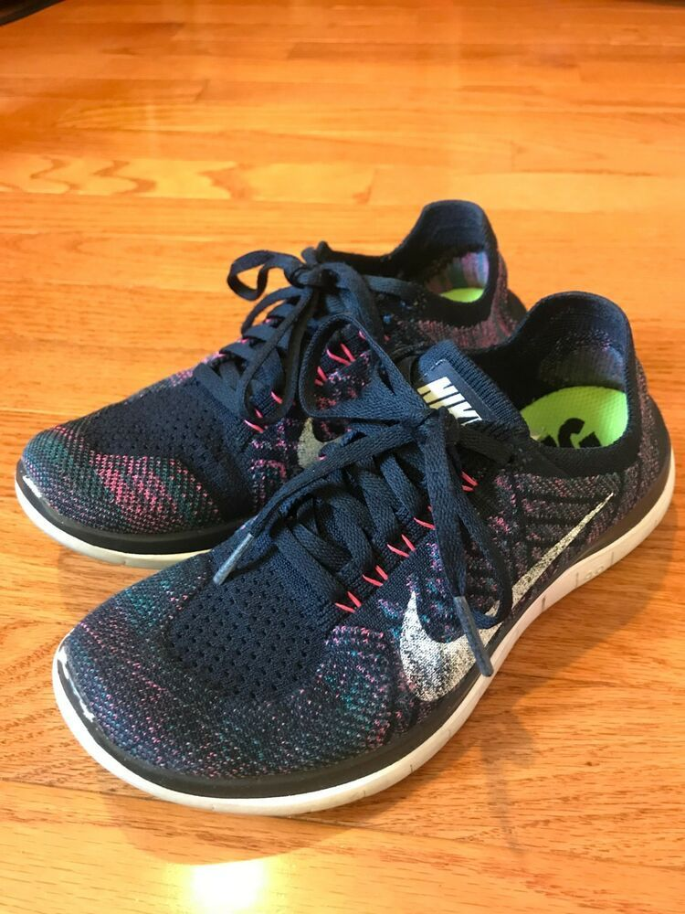 Womens Nike Free 4.0 Flyknit Running Shoe Size 6