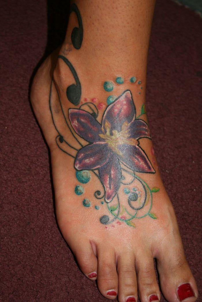Tatouage Fleur De Lys Pied Tattoo Pinterest Tatouage Tatouage
