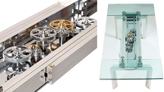 Awesomely Over Engineered Extending Glass Table Will Outshine Any
