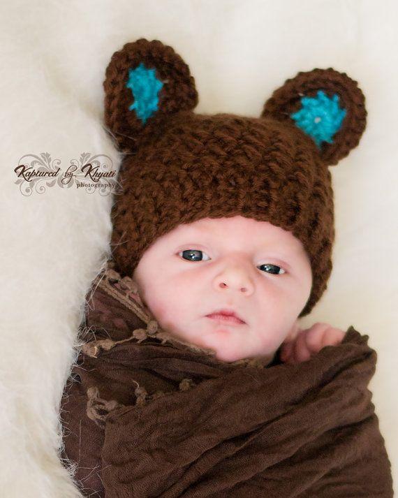 Crochet Bear Hat With Ears 85140b582c2