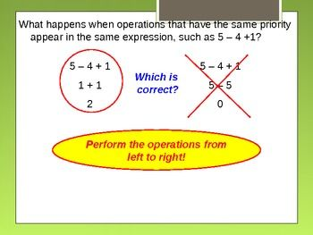 Alg 1.3 Order of OperationsYou can use this PPT forpre algebraAlgebra 1Math for Special EducationApplied MathBasic Math You may also be interested in my other top-selling products:    EQUIVALENT FRACTIONS (33 Items) Fractions 10 Pages of Practice (191 questions) Fractions Review and Reinforcement Fractions Test (15 Q)  4th Grade Word Problems Quiz (10 Q) Equations and Inequalities Quiz (20 Questions) Evaluate Expressions Quiz (22 questions) Pairs of Lines Quiz (17Q) Decimals, Fractions and…