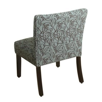 Best Homepop Swirl Pattern In Teal Parker Accent Chair And 400 x 300
