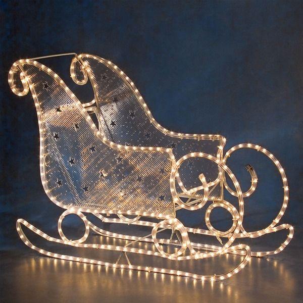 Santa Sleighs for Sale | Konstsmide Ropelight 3D Outdoor Santa ...