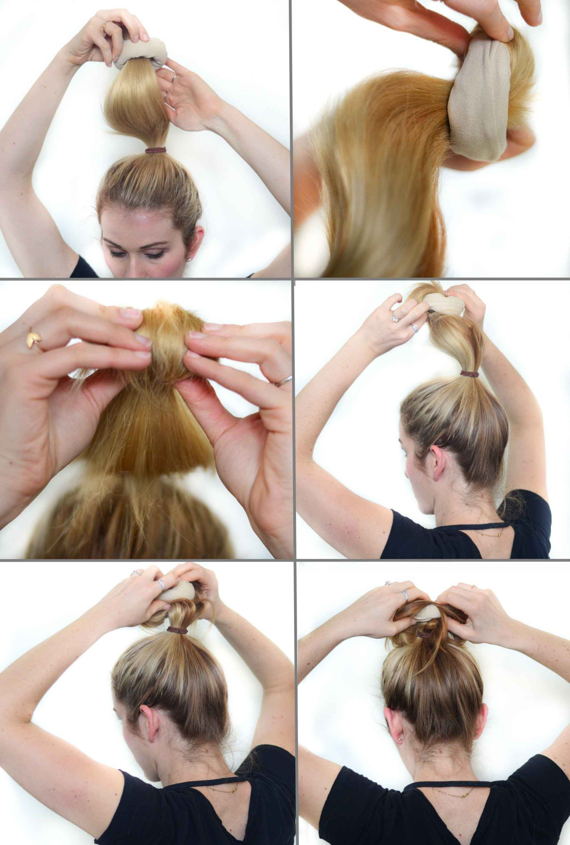 Sock Bun Photo Tutorial
