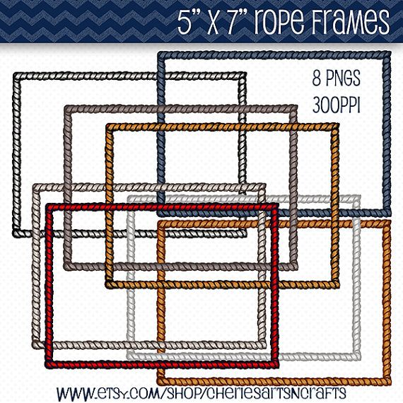 Rope Frames Clip Art Nautical Rope Borders by CheriesArtsnCrafts, $3.50