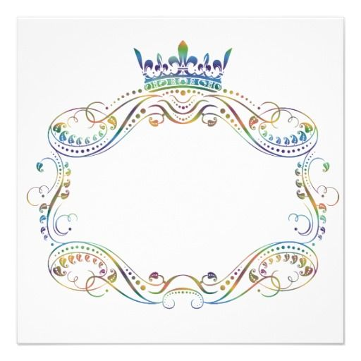 Medallion Frame With Crown Invitation Paint Projects Invitations