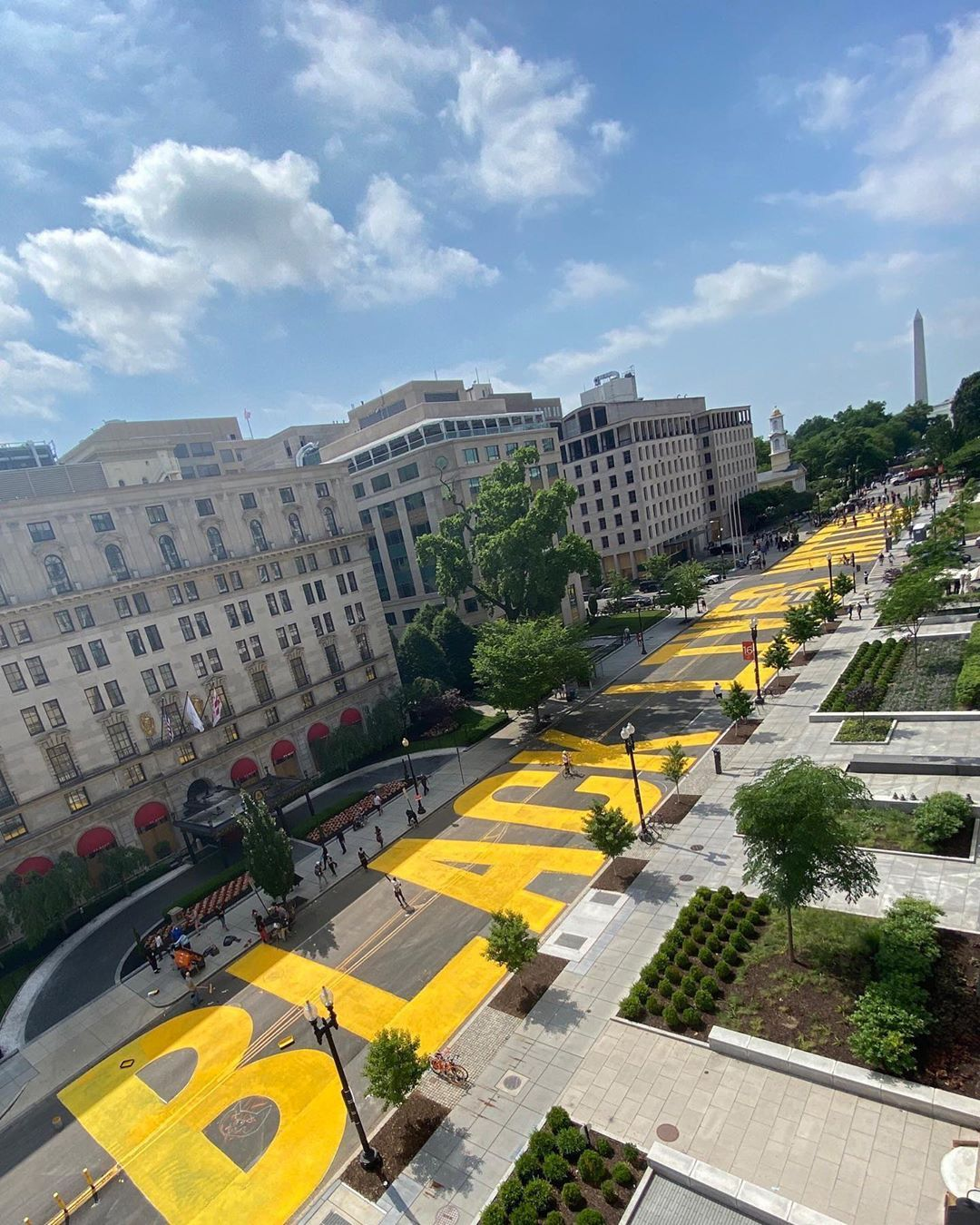 A Bold Black Lives Matter Statement Transforms A Street Leading To The White House In Washington D C Black Lives Matter Art Black Lives Matter Black Lives