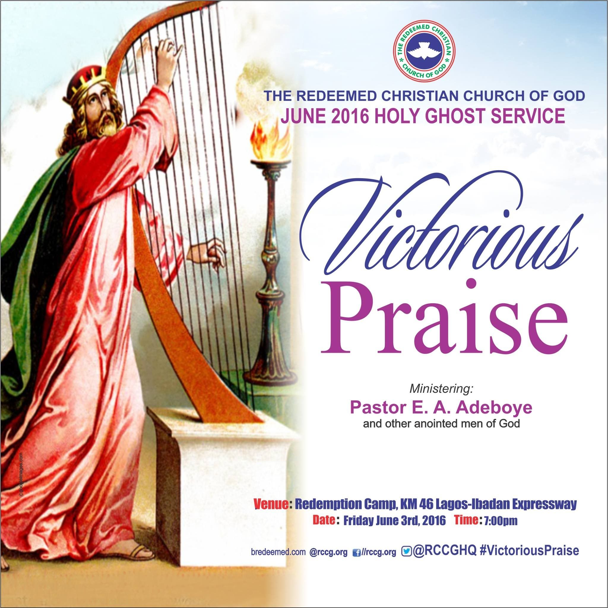 JUNE 2016 HOLY GHOST SERVICE- VICTORIOUS PRAISE