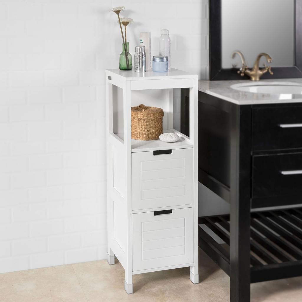 SoBuy® Badkommode, Badschrank, Kommode, Badezimmer, FRG127