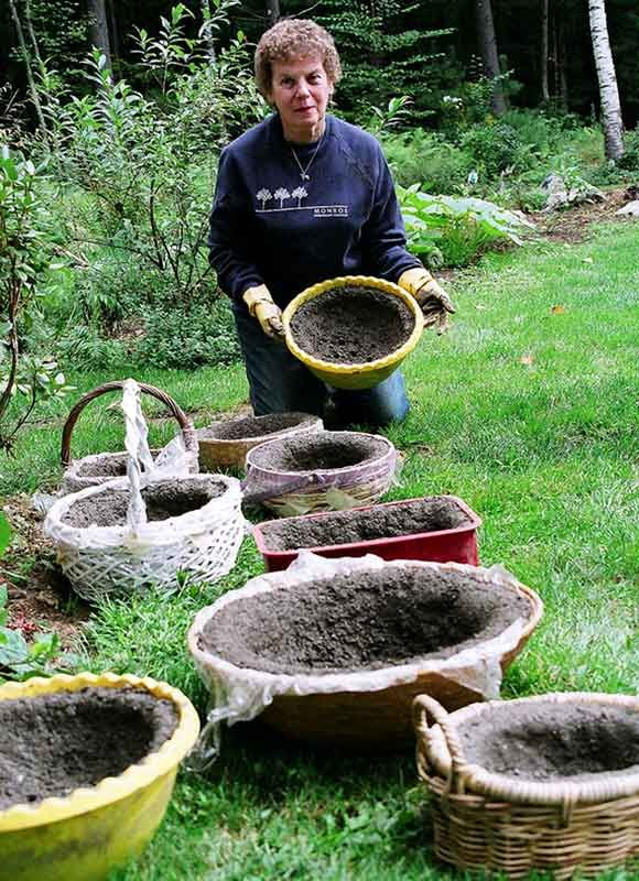 Create pots to plant into which can be decorated with mosaics using various containers as a mould.