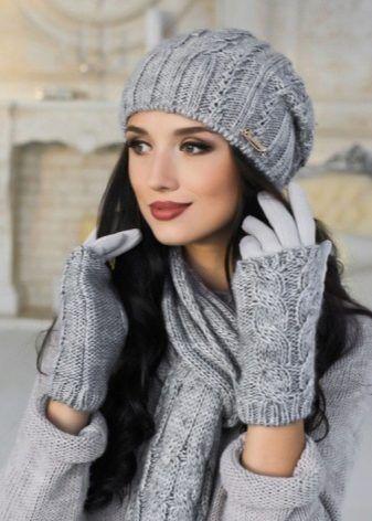 Комплект шапка перчатки шарф (58 фото): женские наборы с ...
