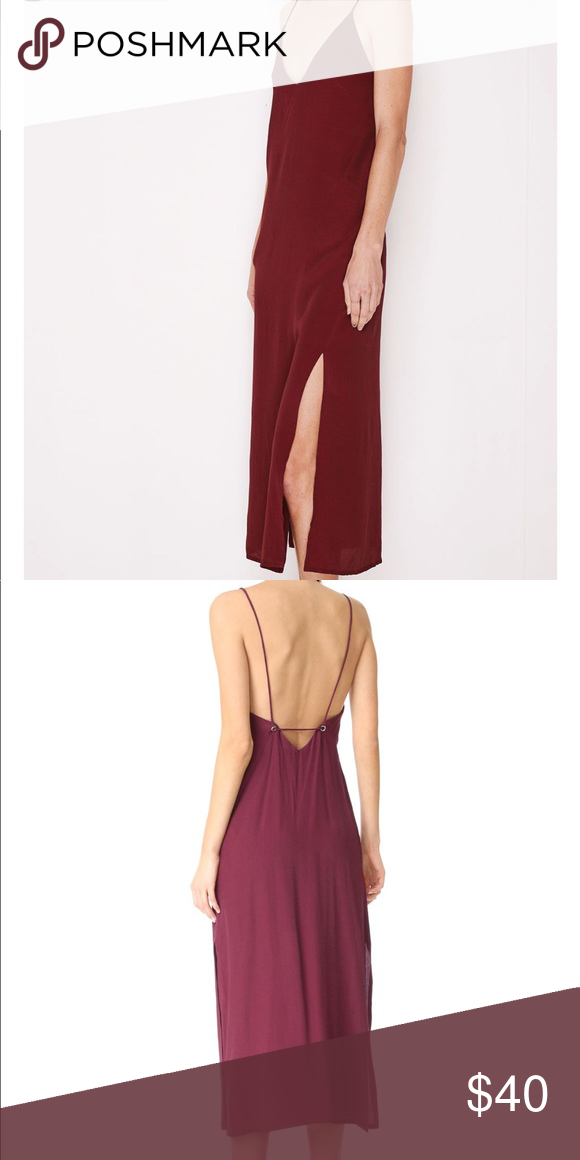 d836c8abc0bb4 MLM Mali Cami Slip Dress Plum color midi dress, hidden side zipper sold on  Shopbop and Revolve MLM Dresses Midi