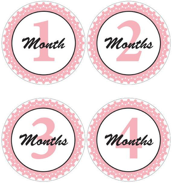picture regarding Baby Month Stickers Printable known as Extravagant Crimson Printable Month to month Youngster Stickers. No cost Printable
