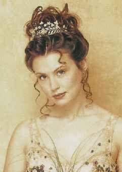 Bridal updo soft curls with tiara brown long hair pinterest bridal updo soft curls with tiara brown pmusecretfo Images