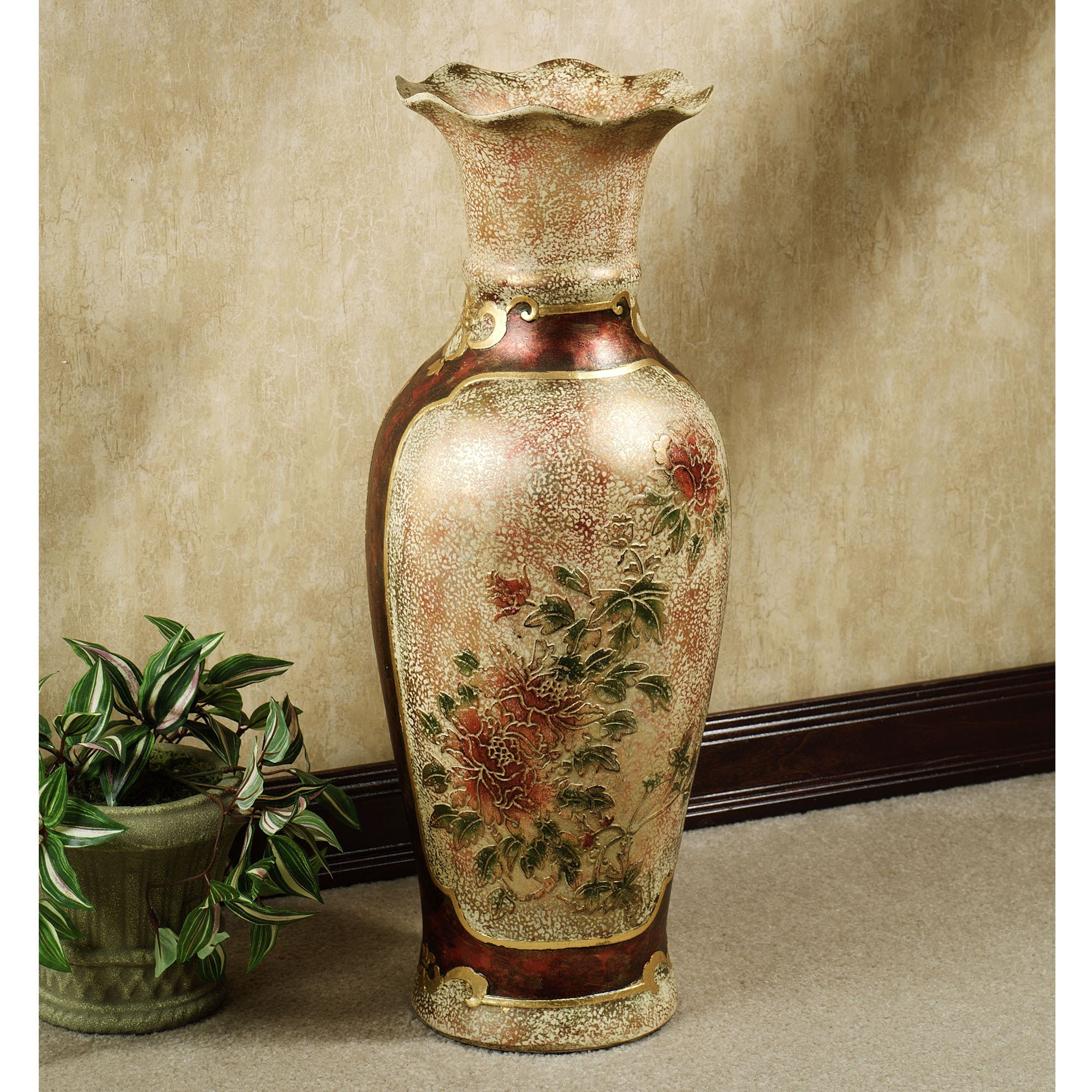Elysian blooming floor vase urn porcelain and decorating a combination of beautiful imagery and attractive design make this elysian blooming vase an appealing choice reviewsmspy