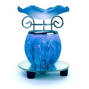 New Electric Oil Warmer Lamp Tart Burner Bulb Night Light Fragrance Dim Blue Oil Warmer Tart Burner Electric Oil Warmer