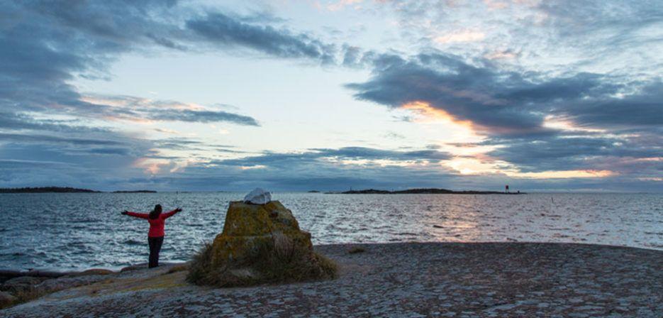Suomen eteläisin kärki on Hangossa. Kuva: Hangon matkailutoimisto/Johanna Sandin.