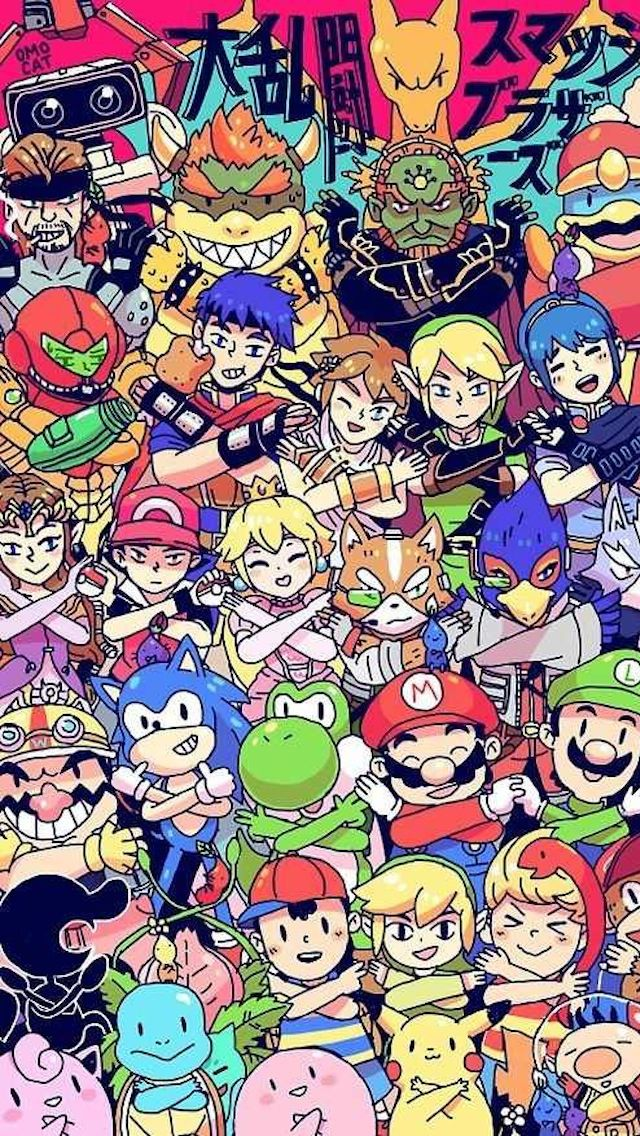 Video Game Iphone Wallpapers Wallpapersafari Super Smash