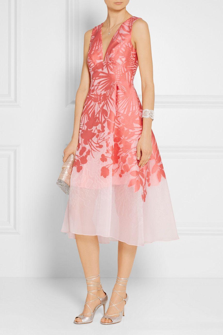 LELA ROSE Floral organza-jacquard dress | Fashion Lust | Pinterest ...