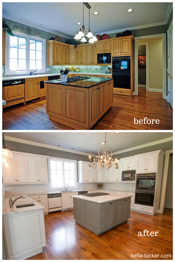 Painted Cabinets Nashville TN Before and After Photos | White paints ...