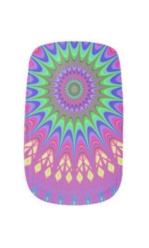 Mandala Nail Wraps $20.95 *** Mandala flower kaleidoscope design - nail art