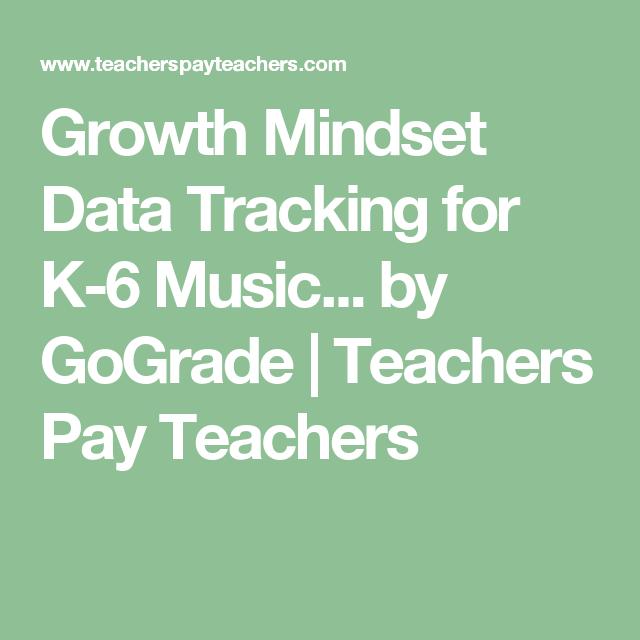Growth Mindset Data Tracking for K-6 Music Teachers ...