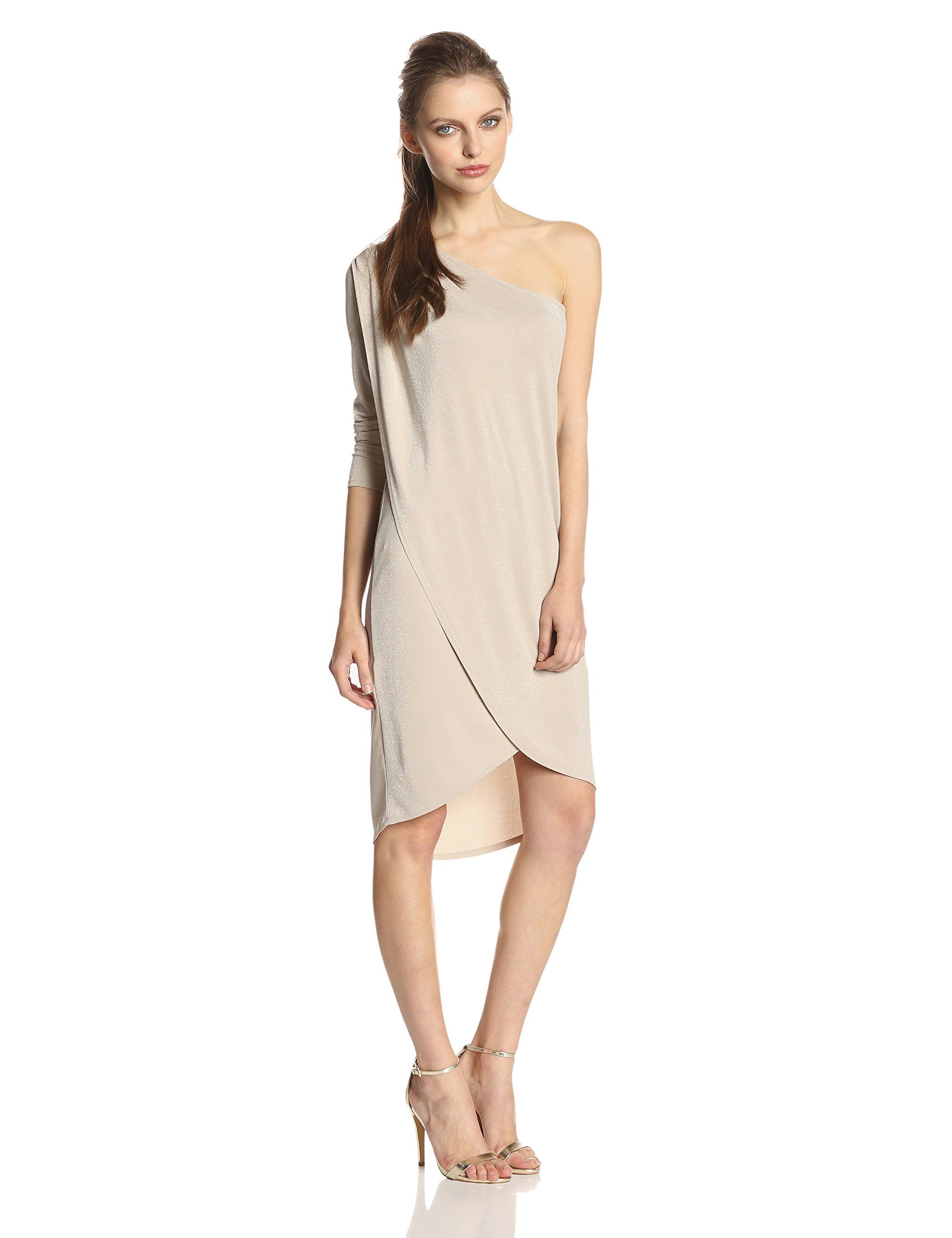 954a1a0b0fc Amazon.com  BCBGMAXAZRIA Women s Jolee Pleated Tulip Hem Dress ...