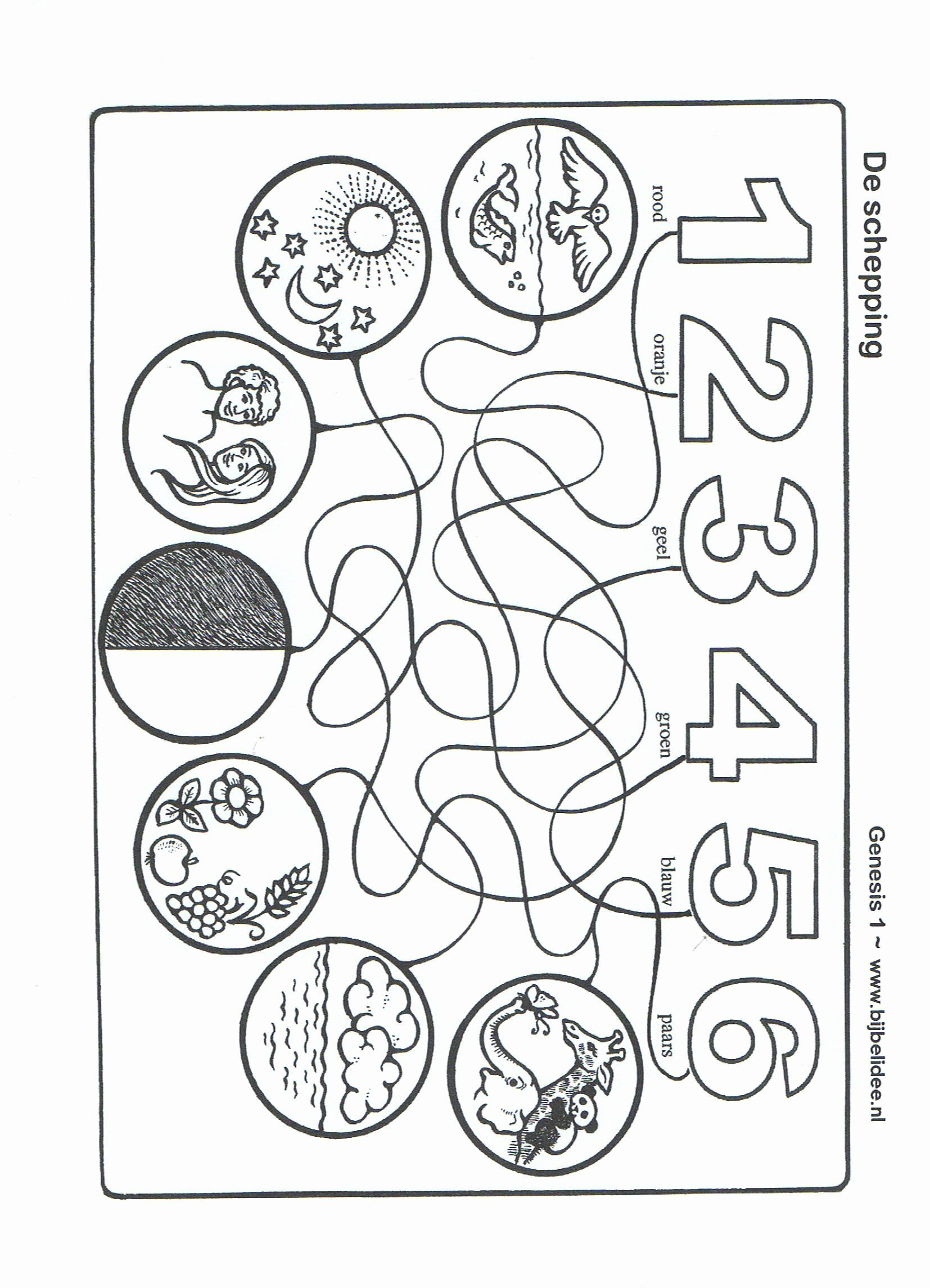 Days Of Creation Coloring Page New 28 Of Days Creation