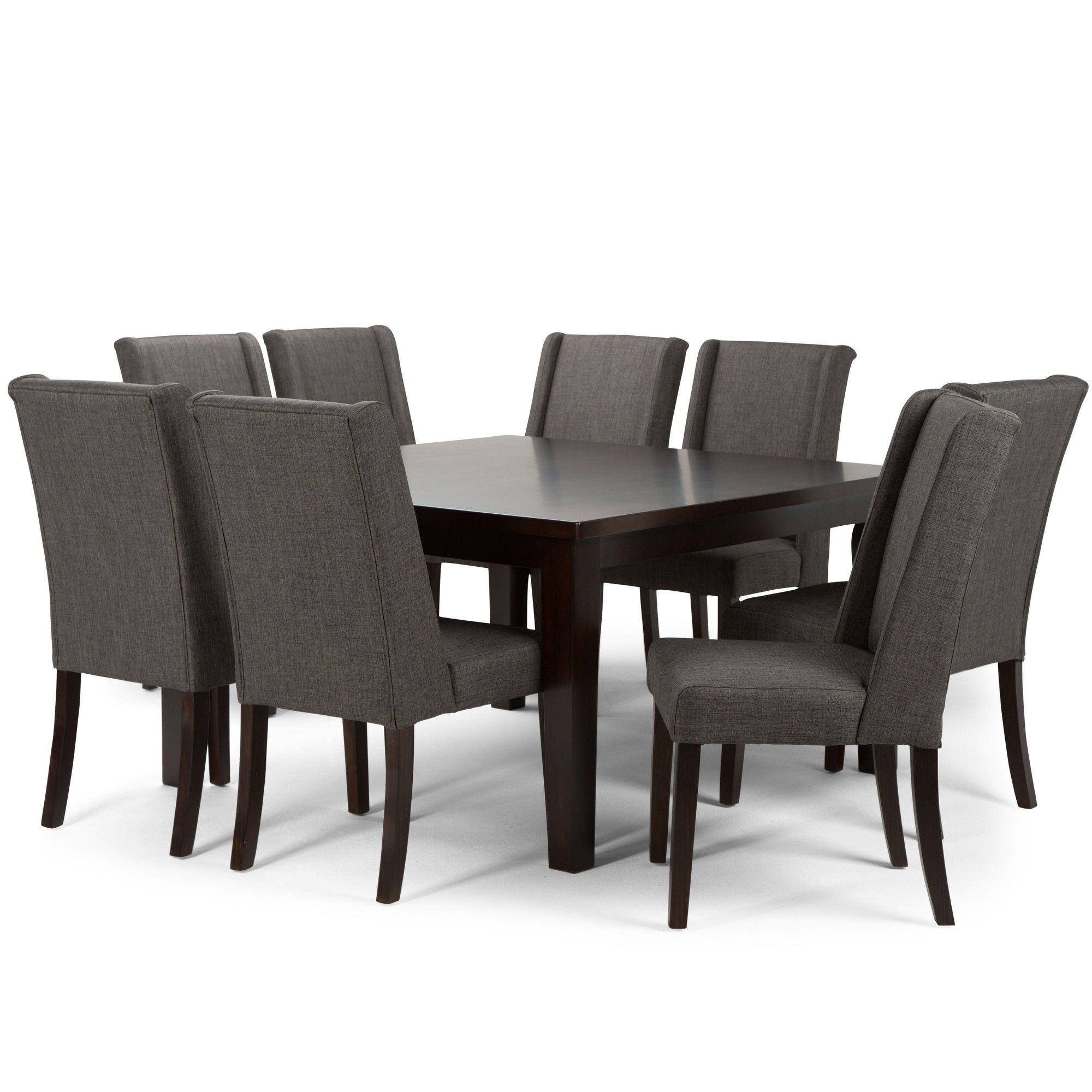 Sotherby 9 Piece Dining Set Slate Grey Gray Simpli Home