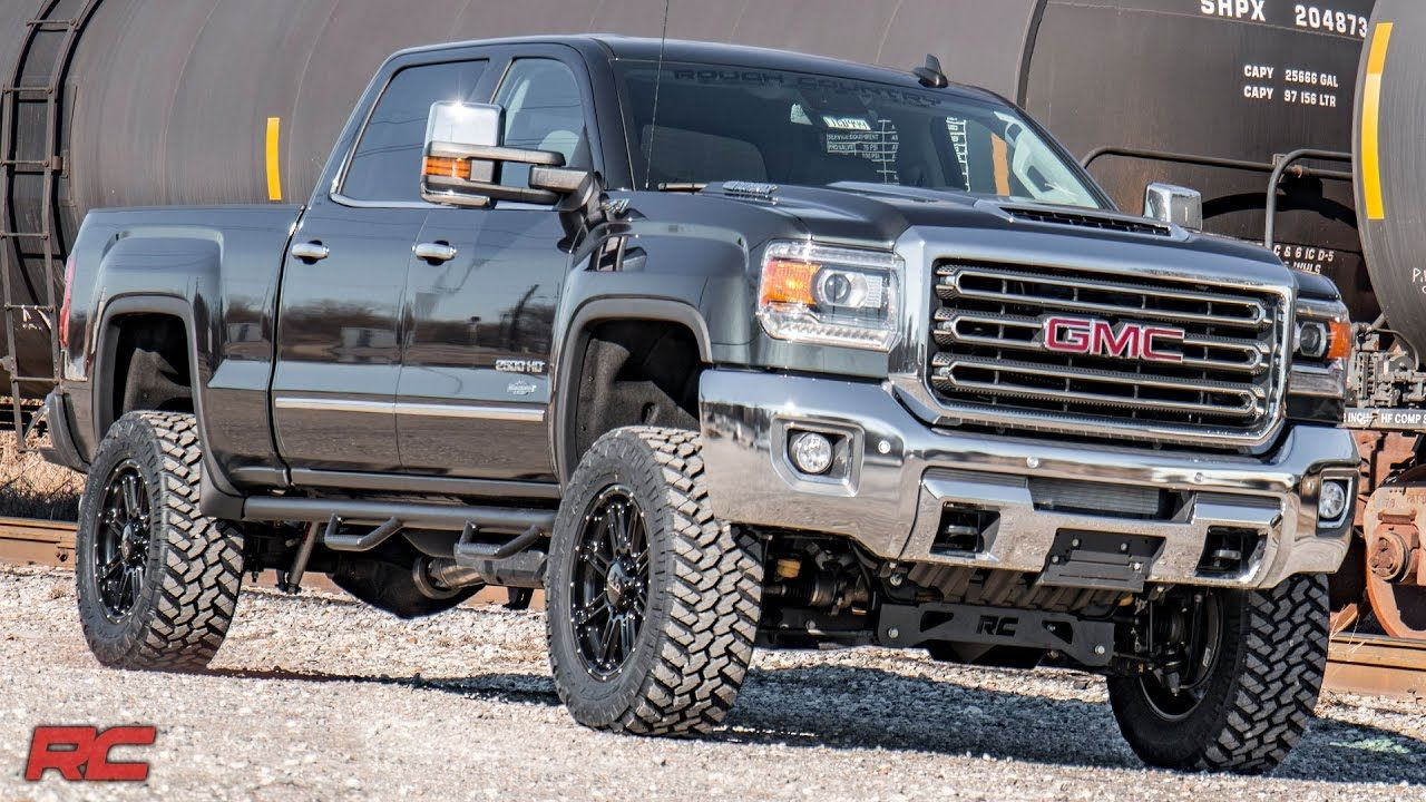 2017 gmc sierra 2500hd rough country off road edition dark grey vehicle profile