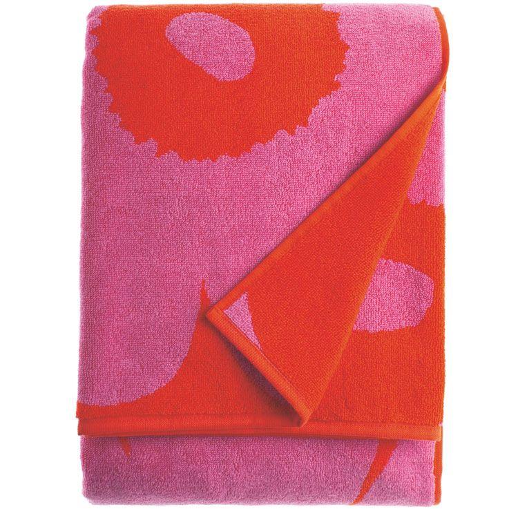 KAKSI raitaa serviette rouge Marimekko
