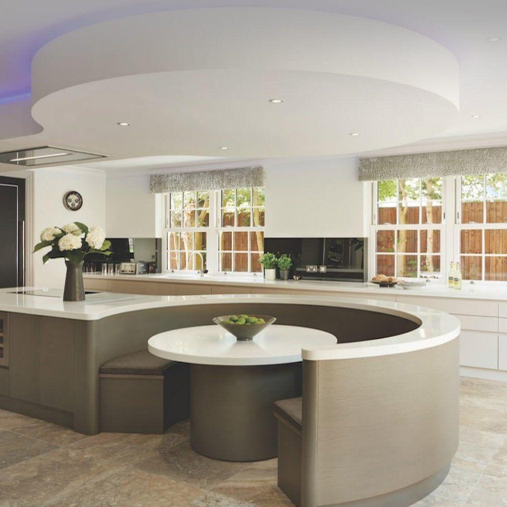 Circular Kitchen Island Designs Curved Kitchen Island Curved Kitchen Luxury Kitchen Design