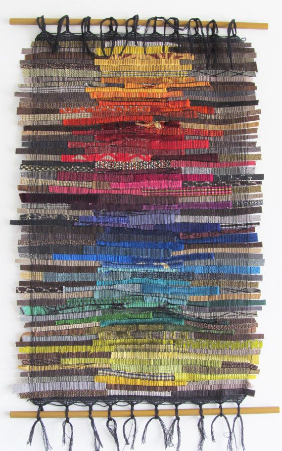 This Large Textile Wall Hanging Was Woven On A Saori Loom In