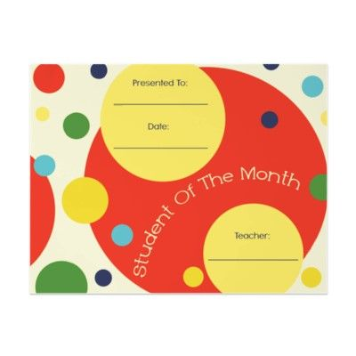student of the month award certificate letterhead