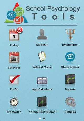 A School Psychology app to manage my calendar, evaluations, and even