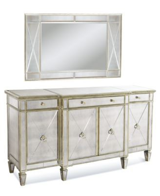 Marais Mirrored Credenza Mirrored Sideboard Sideboard Furniture Mirrored Credenza