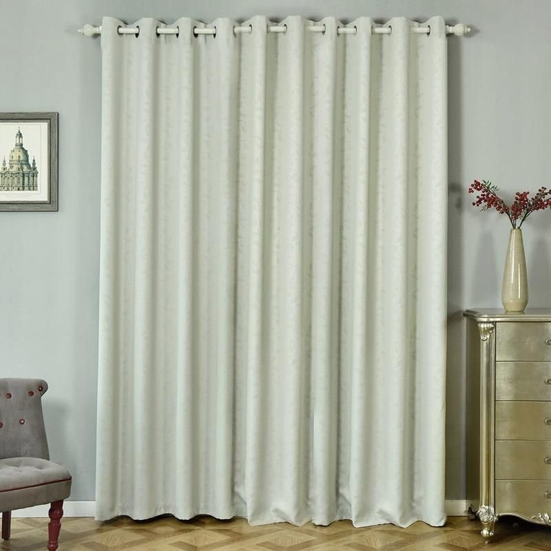 Silver Blackout Curtains 2 Packs Embossed Curtains 52 X 96